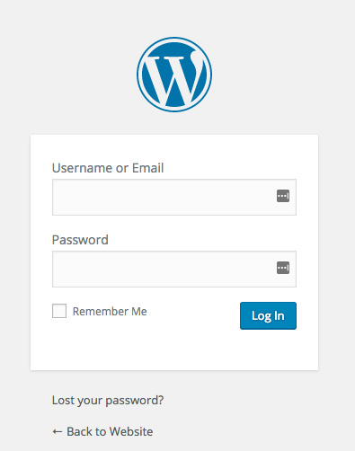 WordPress Login Page Screenshot