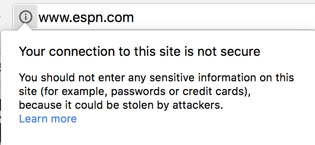 WordPress SSL - Insecure connection notice